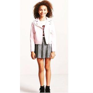 Forever 21 Girls Pink Moto Jacket 11/12